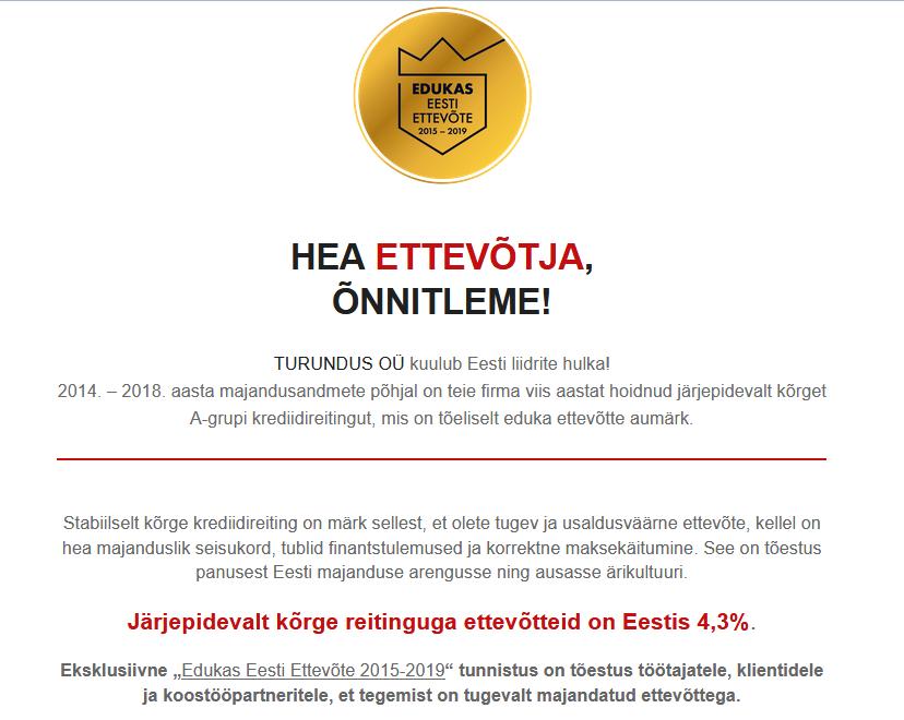 Creditinfo Eesti- Turundus