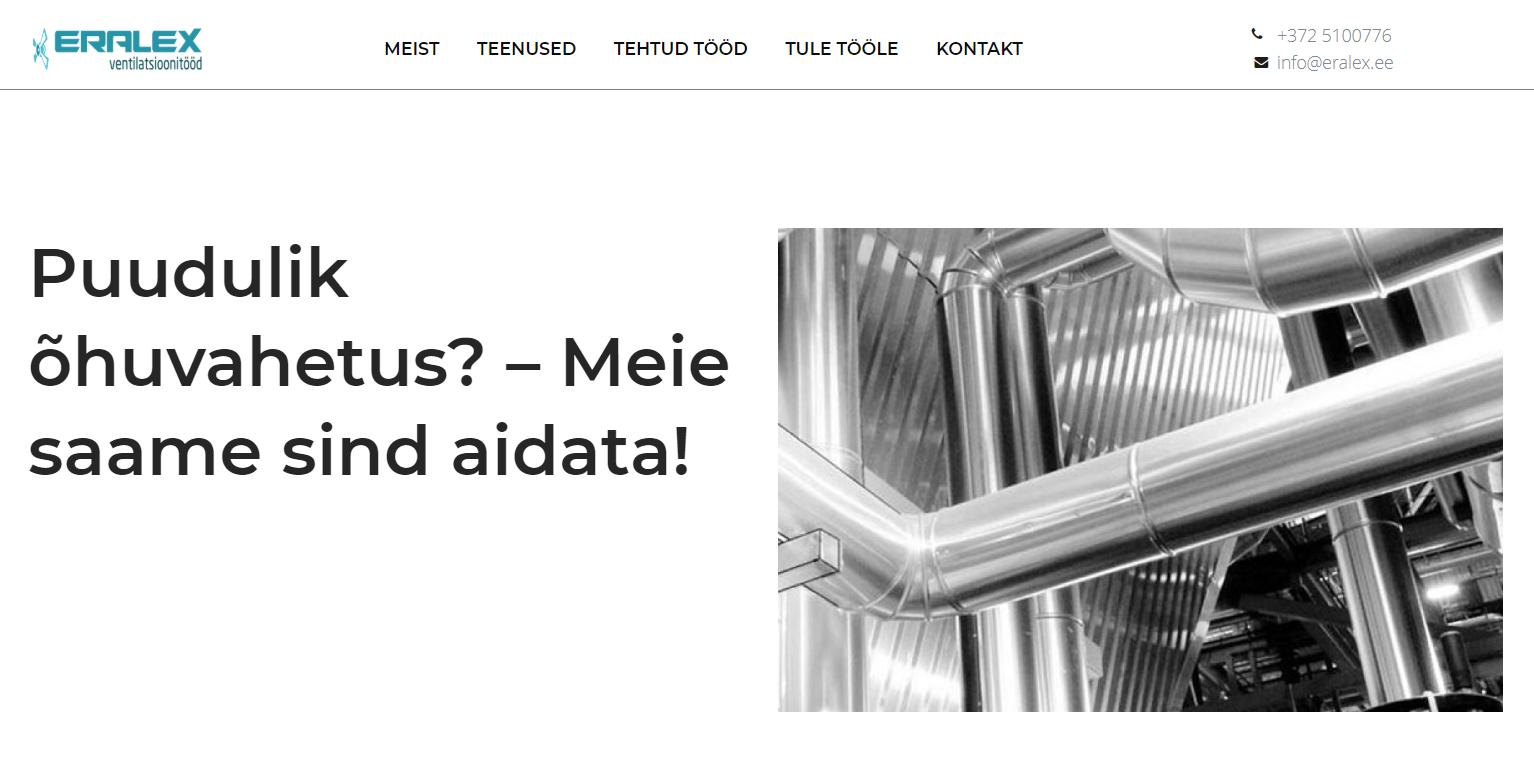 Uus veeb valmis- ventilatsioonisüsteemid