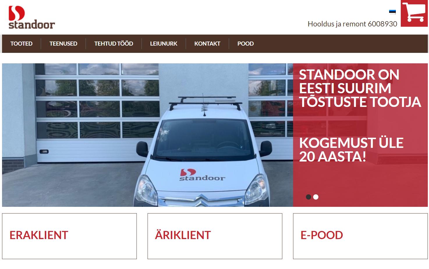 UUS koduleht- Standoor Eesti